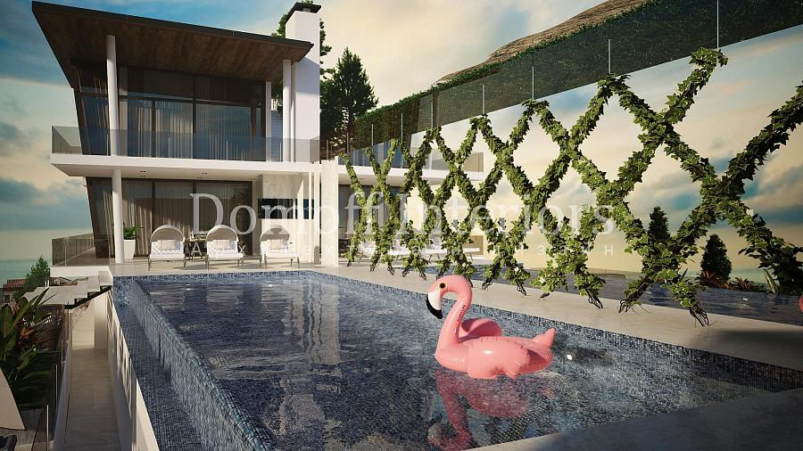 Мозаика в открытом бассейне